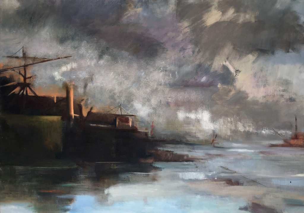 Approaching Port 1 Oil on Canvas 100 x 70cm 2017